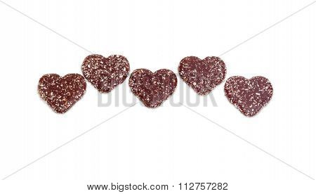 Biscuit Glazed With Chocolate On A Light Background