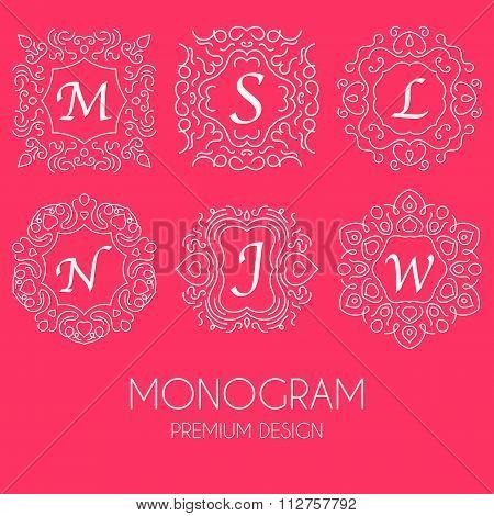 Simple monogram design template
