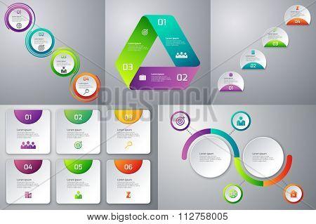 set templates infographics