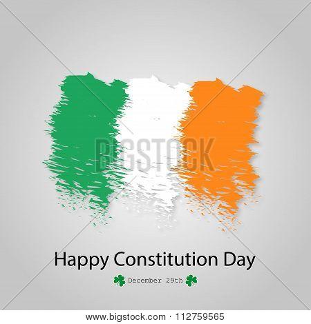 Flag Of Ireland Brush Constitution Day December 29