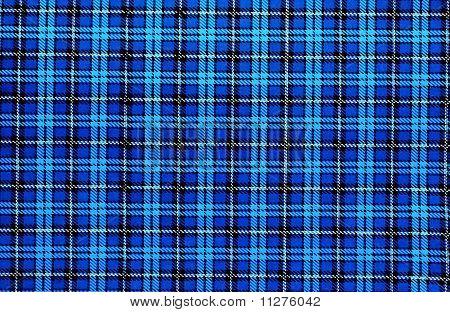 Vintage Blue Plaid Pattern