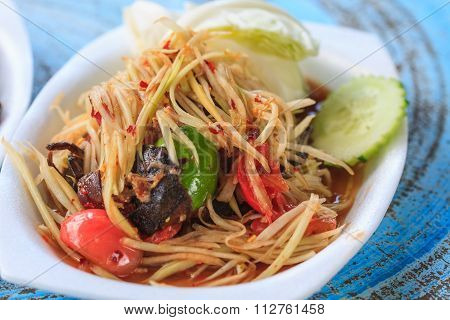 Thai Delicious Raw Papaya Salad