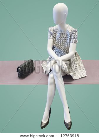 Sitting Female Mannequin