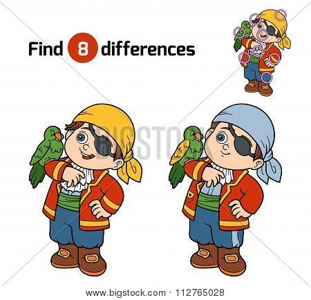 Find Differences, Game For Children (pirate Boy)