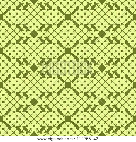Abstract Seamless Pattern In Green Colors