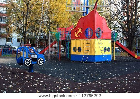 Children's Playground in the courtyard of a residential building