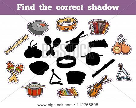 Find The Correct Shadow (musical Instruments)