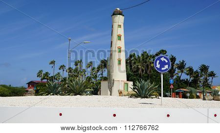 ORANJESTAD, ARUBA - NOV 26: View of Aruba, as seen on Nov 26, 2015. About three quarters of the Aruban gross national product is earned through tourism or related activities.