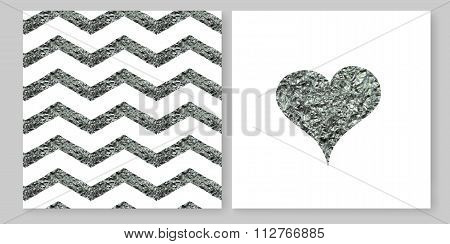 Seamless pattern ties silver lines.
