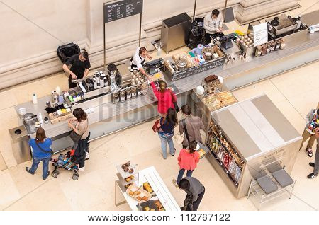 LONDON, UK - CIRCA JULY 2012: Overhead view of the Court Cafe at the British Museum.