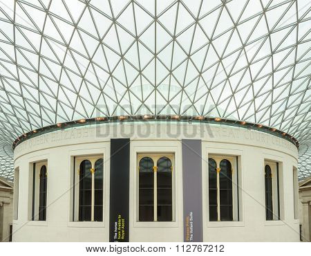 LONDON, UK - CIRCA JULY 2012: The British Museum was established in 1753 and is dedicated to human history, culture and art.