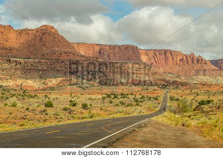 On a road to the Capital Reef National Park