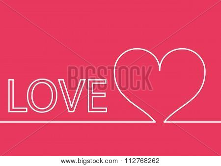 Vector illustration background with heart