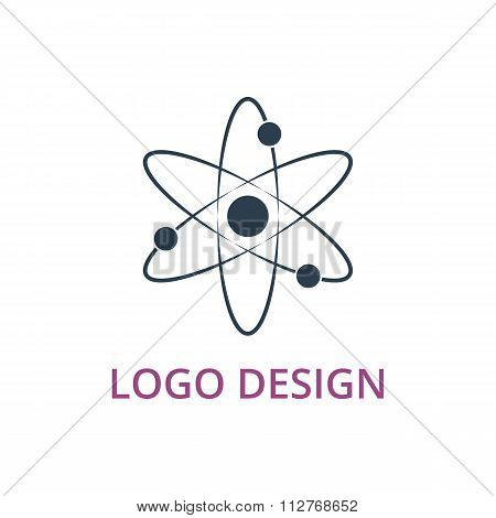 Vector illustration of an atom logo