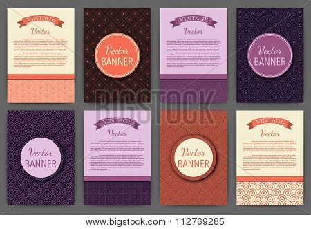 Vector illustration set of invitations