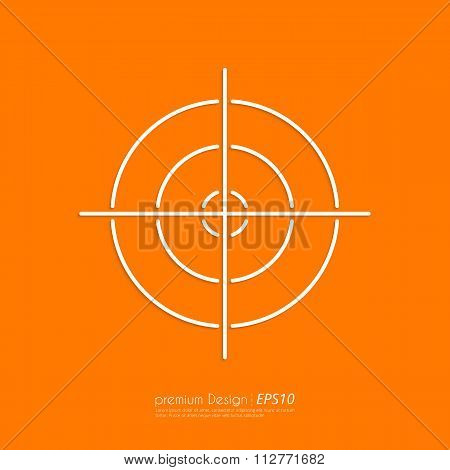 Stock Vector Linear icon target
