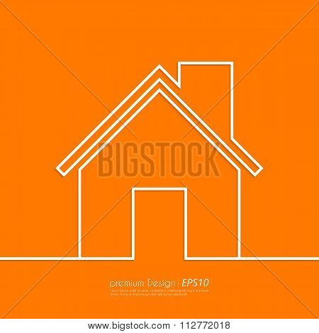 Stock Vector Linear icon house