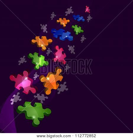 Abstract background with puzzle pieces