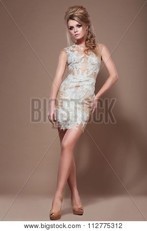 Beautiful Woman In A Dress.