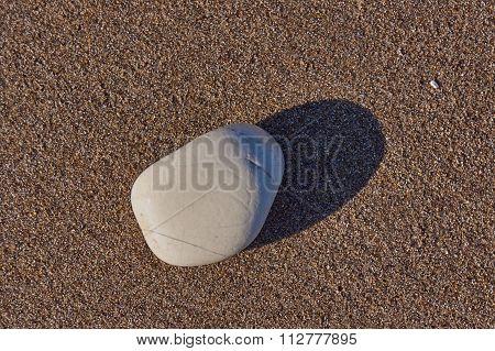 Pebble on the beach on the island of Corfu