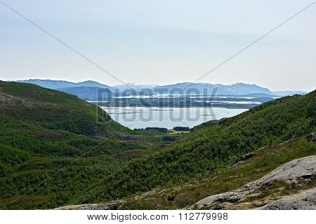 Sea And Mountains, Helgeland, Norway