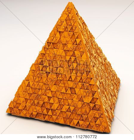 Mysterious Greeble Pyramid In Orange