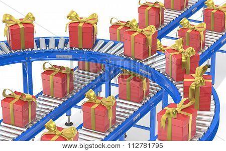 Christmas Gift Box Production.