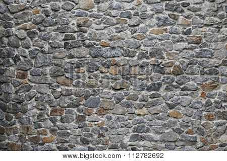 Old Stone Layered Wall