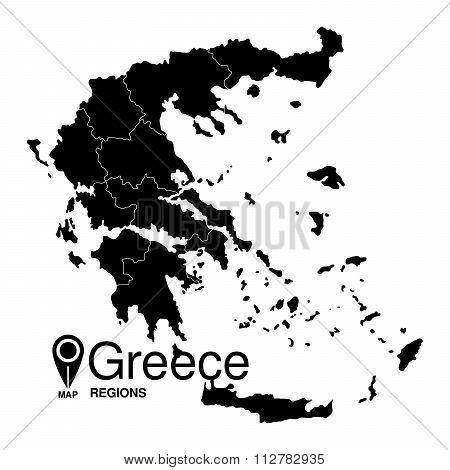 Greece map regions