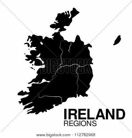 Ireland Regions map. Regions of Ireland