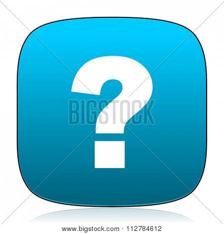 question mark blue icon