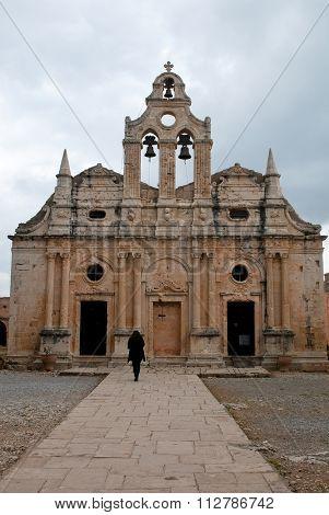 Arkadi Orthodox Monastery In Rethymnon, Greece