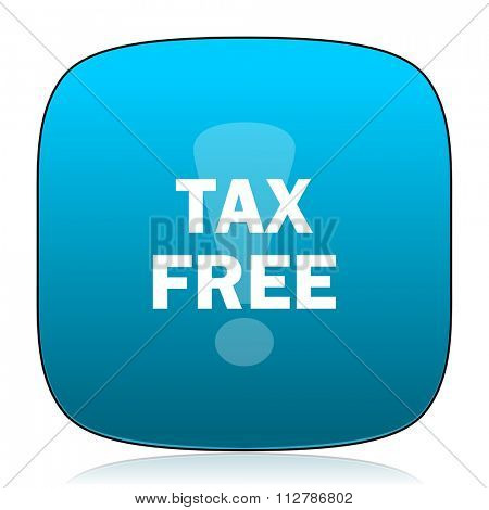 tax free blue icon