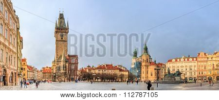 Panorama Of The Prague Old Town Square