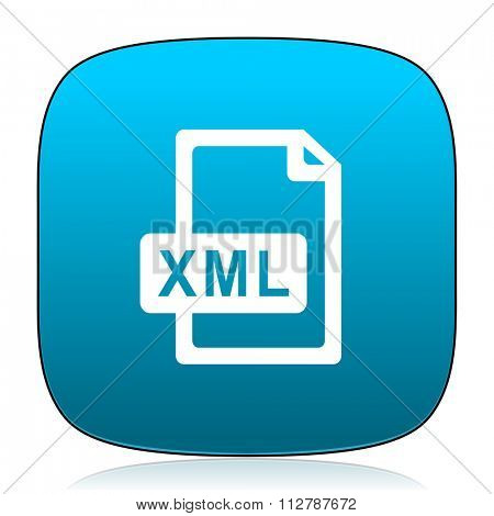 xml file blue icon