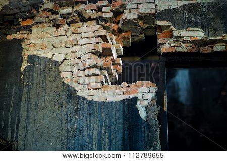 Ruined Brick Bulding