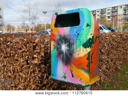 Colorful Trash Bin