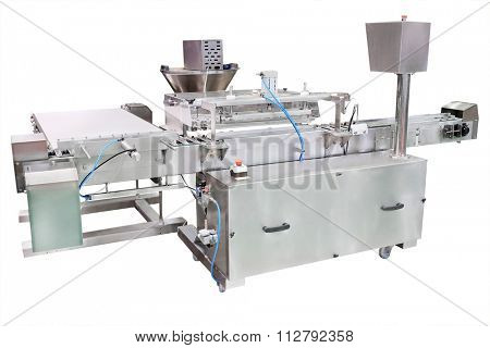 image of a food industry equipment under the white background