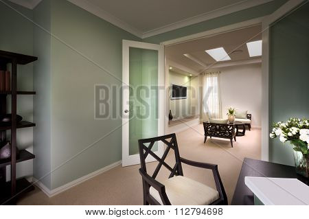 A Beautiful Picture Of Living Room From The Doors