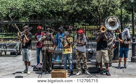 New Orleans French Quarter Street Jazz Musician Performers
