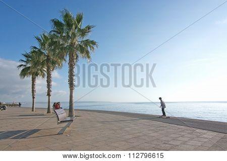 Skater On The Molinar Boardwalk