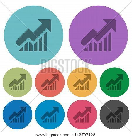 Color Rising Graph Flat Icons