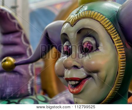 New Orleans Mardi Gras World - Jester Face