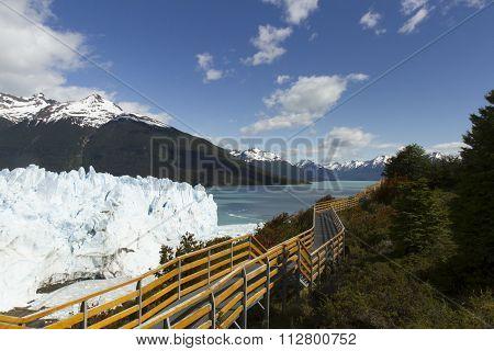 Boardwalk Along Perito Moreno Glacier, Argentia