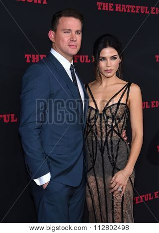 LOS ANGELES - DEC 07:  Channing Tatum & Jenna Dewan-Tatum arrives to the