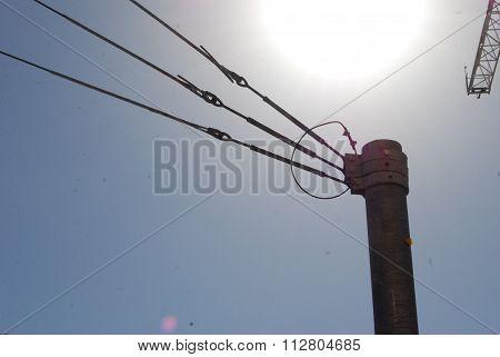 Power Pole Suspension Terminus