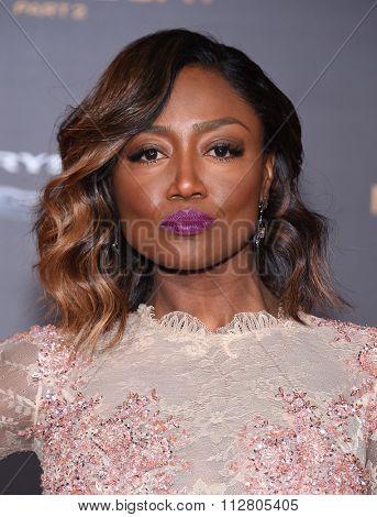 LOS ANGELES - NOV 16:  Patina Miller arrives to the