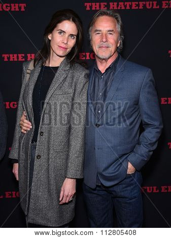 LOS ANGELES - DEC 07:  Don Johnson & Kelley Phleger arrives to the