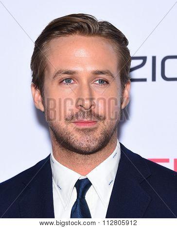 LOS ANGELES - NOV 12:  Ryan Gosling arrives to the AFI Fest 2015 Closing Gala 'The Big Short' World Premiere  on November 12, 2015 in Hollywood, CA.