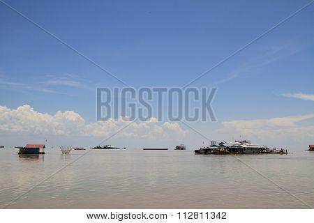 Tonle Sap lake in Siem Reap Cambodia